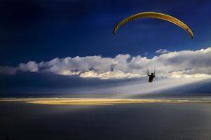 Paragliding Dune du Pilat Jules Noordeloos atelier De Zeelt in Beeld