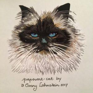 Conny Lahnstein - Cat - paperArt 2017